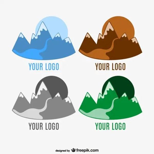 Mountain Logo Template Free Vector