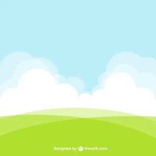 Natural Landscape Background Free Vector