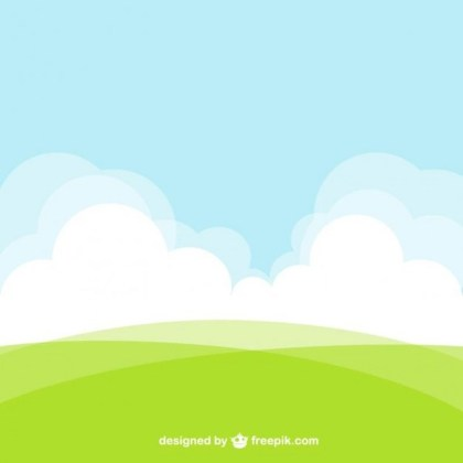 Natural Landscape Background Free Vector