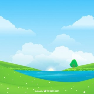 Natural Landscape Free Vector