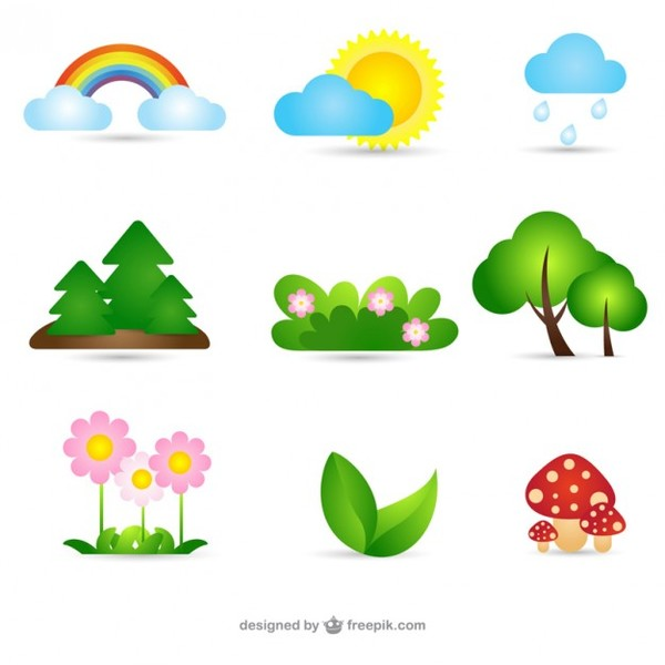 Nature Collection Free Vector