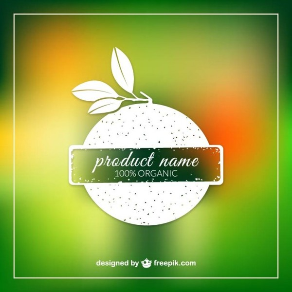 Organic Product Label Template Free Vector