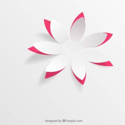 Paper Flower in Pop Up Style Free Vector