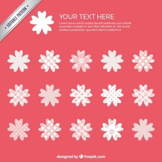 Pink Flowers Pattern Free Vector