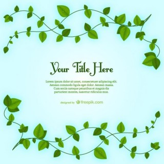 Plant Leaves Template Free Vector