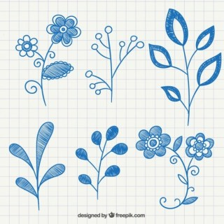 Plant Ornaments Free Vector