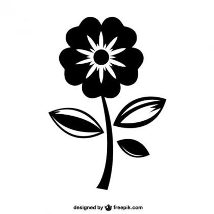 Pretty Flower Icon Free Vector