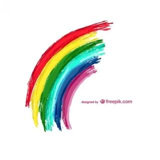 Rainbow Illustration Free Vector