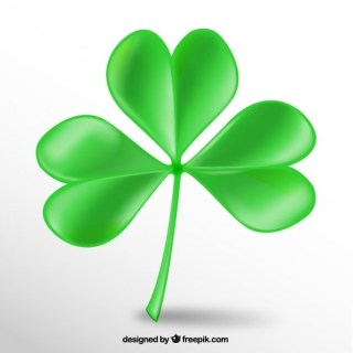 Realistic Clover Free Vector