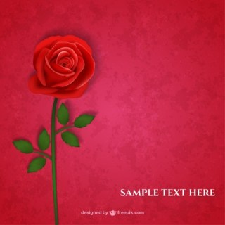 Red Rose Card Free Vector