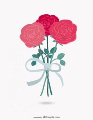 Roses Bouquet Free Vector