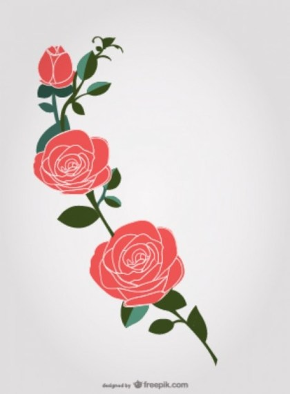 Roses Graphic Free Vector
