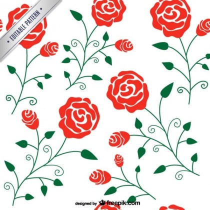 Roses Pattern Free Vector