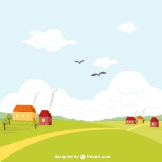 Rural Landscape Free Vector