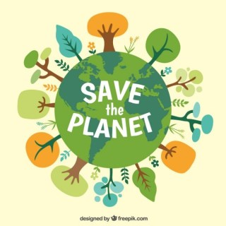 Save the Planet Free Vector