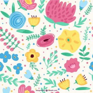 Seamless Floral Spring Background Free Vector