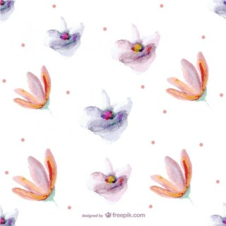 Seamless Flower Painting Pattern Free Vector