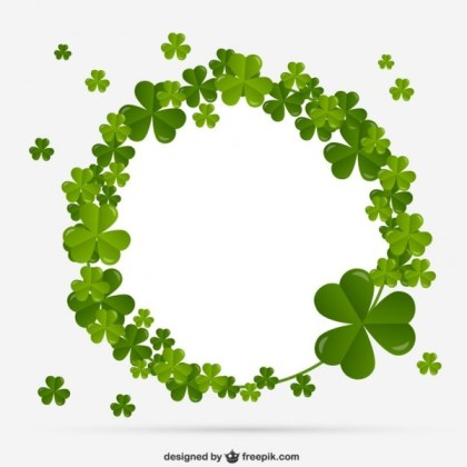 Shamrocks Frame Free Vector