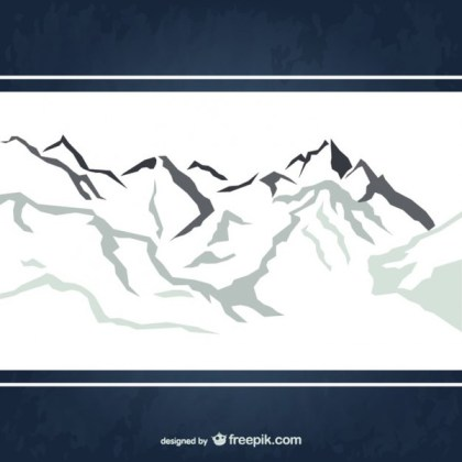 Snowy Mountains Free Vector