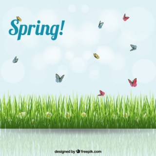 Spring Background with A Meadow Free Vector