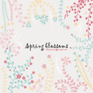 Spring Blossoms Background Free Vector