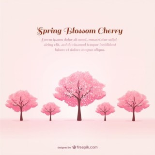 Spring Cherry Trees Free Vector