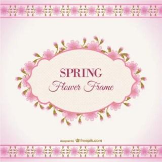 Spring Flower Frame Free Vector