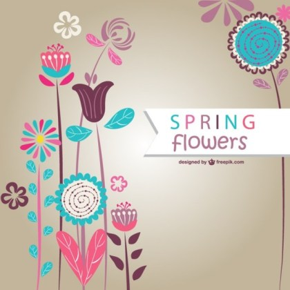 Spring Flowers Art Free Vector