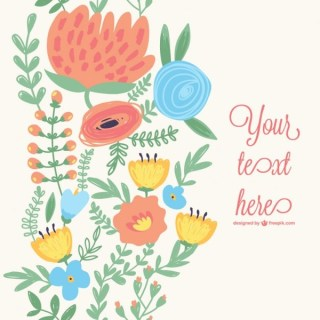 Spring Flowers Card Free Vector