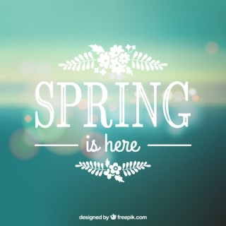 Spring Is Here Free Vector