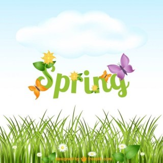 Spring Letters Free Vector