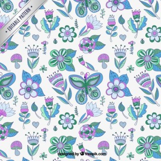 Spring Pattern Free Vector