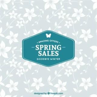 Spring Sales Label Free Vector