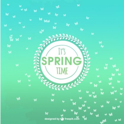 Spring Time Background Free Vector