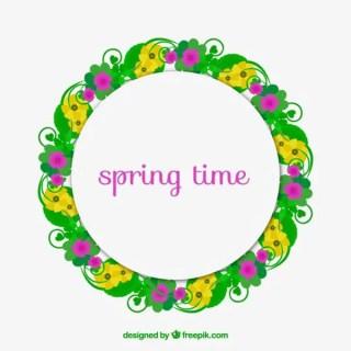 Spring Time Frame Free Vector