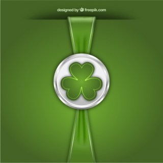 St Patricks Day Stamp with Ribbon Free Vector