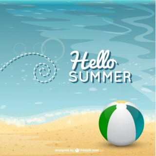 Summer Beach Background Free Vector