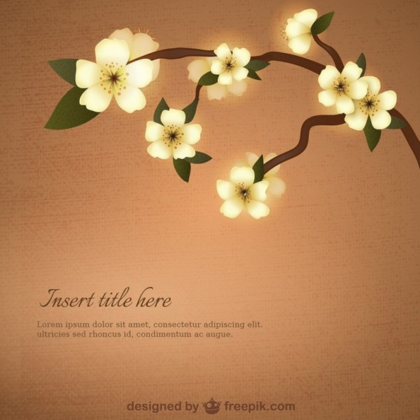 Template with Yellow Flowers Free Vector