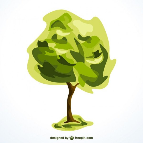 Tree Isolated Graphic Element Free Vector