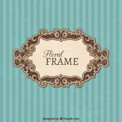 Vintage Floral Frame Free Vector