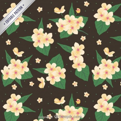Vintage Flowers Pattern Free Vector