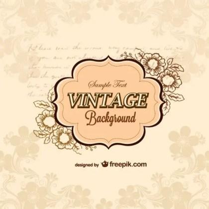 Vintage Retro Background Free Vector