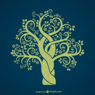 Vintage Tree Silhouette Free Vector