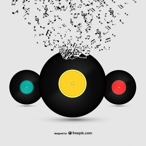 Vinyl and Music Free Vector