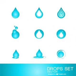 Water Drop Logo Template Free Vector