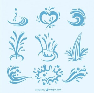 Water Splashes Pack Free Vector