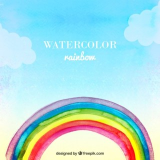 Watercolor Rainbow Free Vector