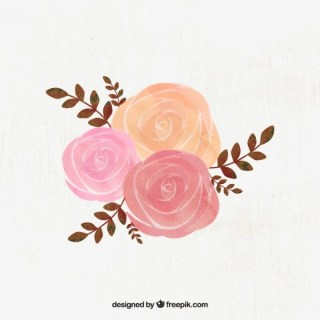 Watercolor Roses Illustration Free Vector