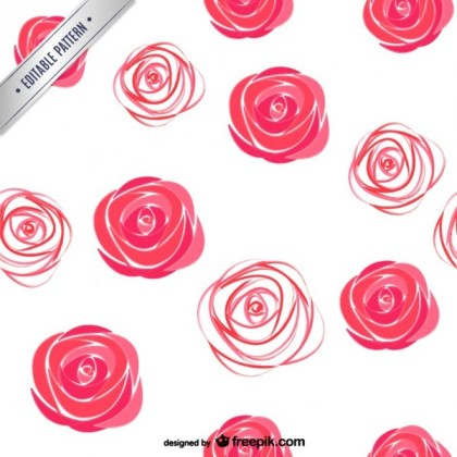 Watercolor Roses Pattern Free Vector