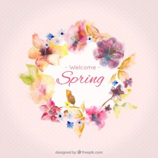 Watercolor Spring Frame Free Vector